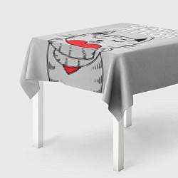Скатерть для стола Я люблю тебя цвета 3D — фото 2