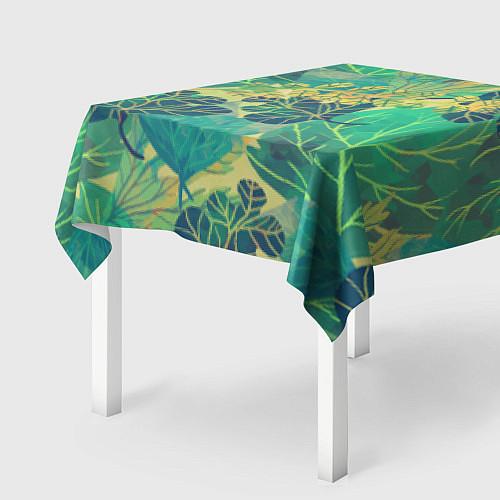 Скатерть для стола Узор из листьев / 3D – фото 2