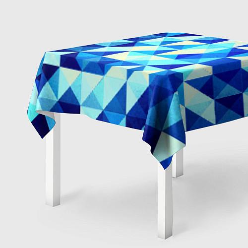 Скатерть для стола Синяя геометрия / 3D – фото 2