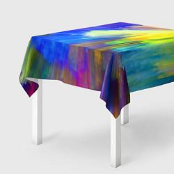 Скатерть для стола Абстракция красок цвета 3D — фото 2