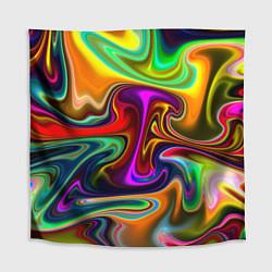 Скатерть для стола Неоновые разводы цвета 3D — фото 1