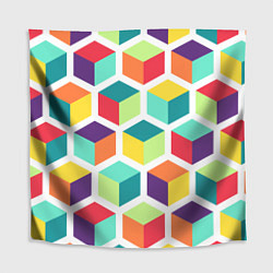 Скатерть для стола 3D кубы цвета 3D — фото 1