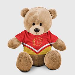 Игрушка-медвежонок NHL: Calgary Flames цвета 3D-коричневый — фото 1