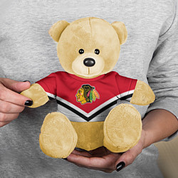 Игрушка-медвежонок NHL: Chicago Blackhawks цвета 3D-желтый — фото 2