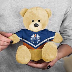 Игрушка-медвежонок NHL: Edmonton Oilers цвета 3D-желтый — фото 2