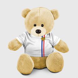 Игрушка-медвежонок Франция: лента с гербом цвета 3D-желтый — фото 1