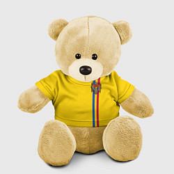 Игрушка-медвежонок Молдавия: лента с гербом цвета 3D-желтый — фото 1