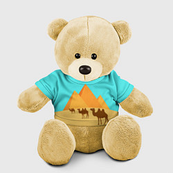 Игрушка-медвежонок Пирамиды Египта цвета 3D-желтый — фото 1