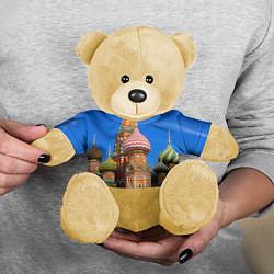 Игрушка-медвежонок Храм Василия Блаженного цвета 3D-желтый — фото 2