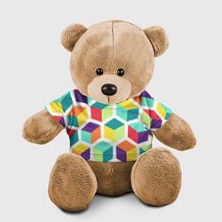 Игрушка-медвежонок 3D кубы цвета 3D-коричневый — фото 1
