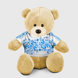 Игрушка-медвежонок Гжель цвета 3D-желтый — фото 1