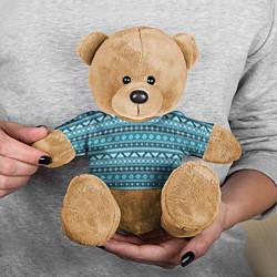 Игрушка-медвежонок Винтажный орнамент цвета 3D-коричневый — фото 2