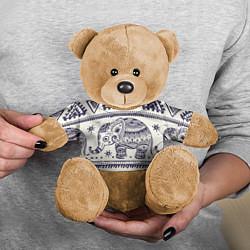 Игрушка-медвежонок Африка цвета 3D-коричневый — фото 2