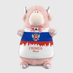 Игрушка-бычок Crimea, Russia цвета 3D-светло-розовый — фото 1