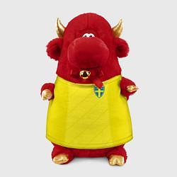Игрушка-бычок Сборная Швеции: Домашняя ЧМ-2018 цвета 3D-красный — фото 1
