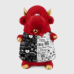 Игрушка-бычок LIL PEEP LOGOBOMBING цвета 3D-красный — фото 1