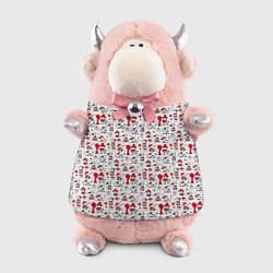 Игрушка-бычок Фон с бычком цвета 3D-светло-розовый — фото 1