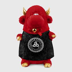 Игрушка-бычок Рог Одина цвета 3D-красный — фото 1