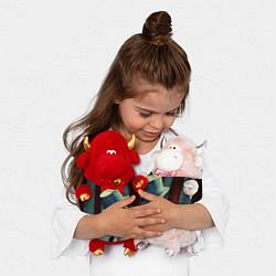 Игрушка-бычок American horror girl цвета 3D-красный — фото 2