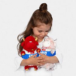 Игрушка-бычок Russia: from 163 цвета 3D-красный — фото 2