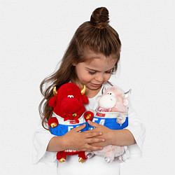 Игрушка-бычок Russia: from 54 цвета 3D-красный — фото 2