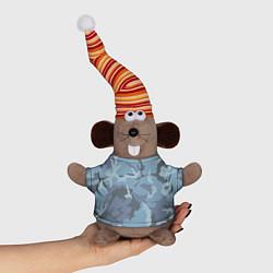 Игрушка-мышка Камуфляж: голубой/синий цвета 3D-серый — фото 1