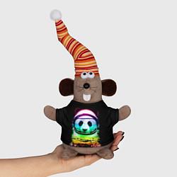 Игрушка-мышка Панда космонавт цвета 3D-серый — фото 1
