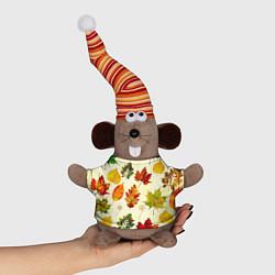 Игрушка-мышка Осень цвета 3D-серый — фото 1