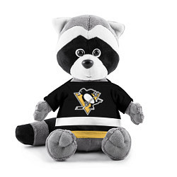 Игрушка-енот Pittsburgh Penguins: Black цвета 3D-серый — фото 1