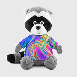 Игрушка-енот Цветные разводы цвета 3D-серый — фото 1