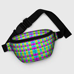 Поясная сумка Тестовый яркий цвета 3D-принт — фото 2