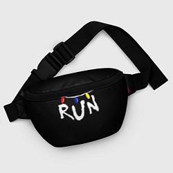 Поясная сумка Stranger Things RUN цвета 3D-принт — фото 2