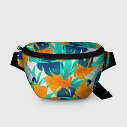 Поясная сумка Лазурные тропики цвета 3D-принт — фото 1