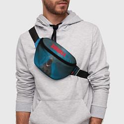 Поясная сумка Blue Godzilla цвета 3D-принт — фото 2
