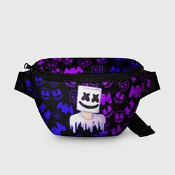Поясная сумка Marshmello цвета 3D-принт — фото 1