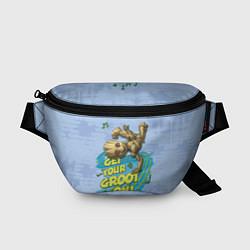 Поясная сумка Get your Groot on! цвета 3D-принт — фото 1