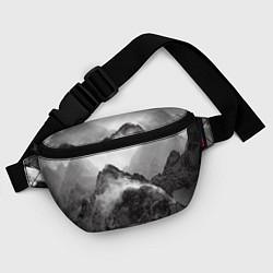 Поясная сумка Горы цвета 3D-принт — фото 2