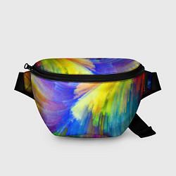 Поясная сумка Абстракция красок цвета 3D — фото 1