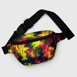 Поясная сумка Кислотный взрыв цвета 3D — фото 2
