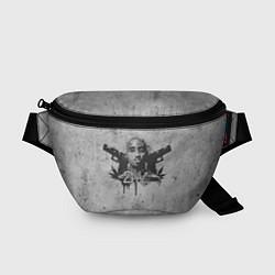 Поясная сумка 2Pac Guns цвета 3D-принт — фото 1
