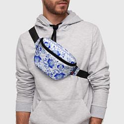 Поясная сумка Гжель 2 цвета 3D — фото 2