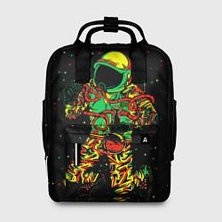 Рюкзак женский Космонавт с кальяном цвета 3D-принт — фото 1