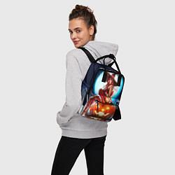 Рюкзак женский Ведьма на тыкве цвета 3D-принт — фото 2