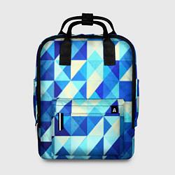 Женский рюкзак Синяя геометрия