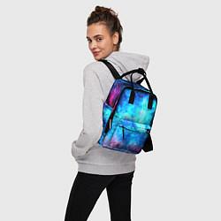 Рюкзак женский Голубая вселенная цвета 3D — фото 2