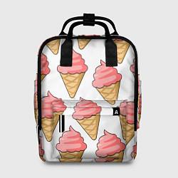Рюкзак женский Мороженки цвета 3D — фото 1