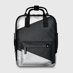Рюкзак женский Чёрно-белый цвета 3D — фото 1