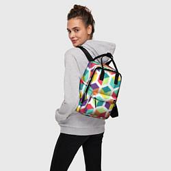 Рюкзак женский 3D кубы цвета 3D — фото 2