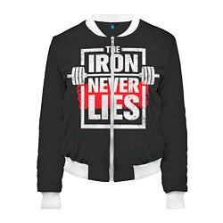 Бомбер женский The iron never lies цвета 3D-белый — фото 1