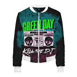 Бомбер женский Green Day: Kill the DJ цвета 3D-белый — фото 1